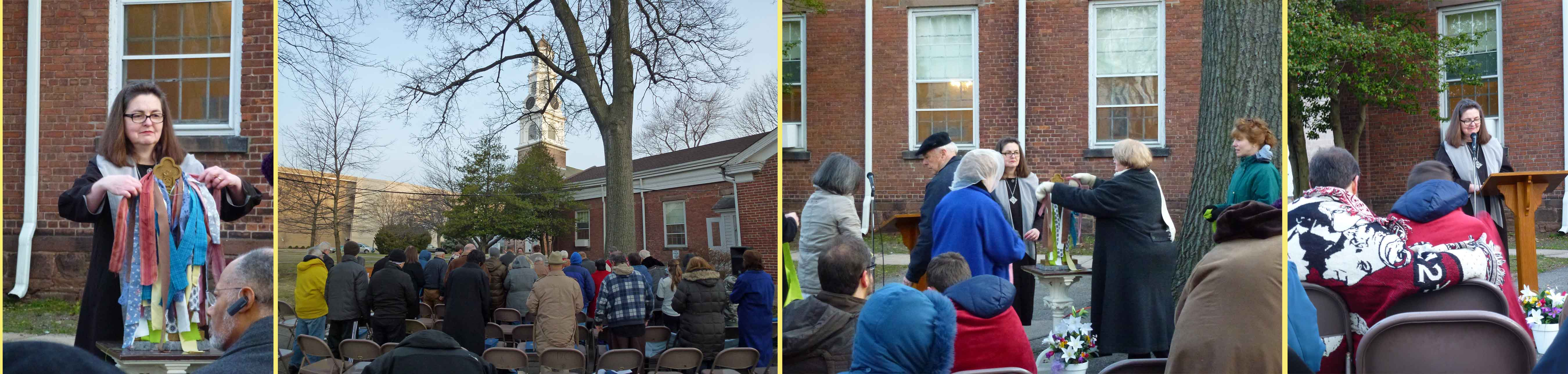 Easter Sunrise Service at the Bloomfield Presbyterian Church on the Green