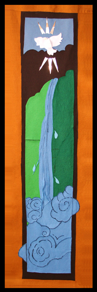 Sanctuary banner 5, representing the fifth great end: the promotion of social righteousness